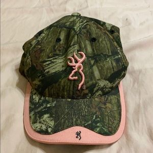Browning pink/camo hat